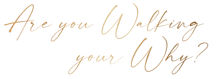 are you walking your why